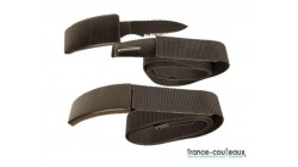 Ceinture AGENT SECRET avec couteau caché- Ceinture Couteau Noir - Belt Knife - Dan Valois