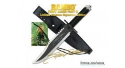 Couteau Rambo First Blood Part II - Sylverster Stallone Signature Edition