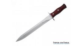 Machette type us avec scie à bois et étui rigide - 60 cm