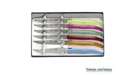 Coffret 6 couteaux de table Laguiole G. DAVID- coloris assortis