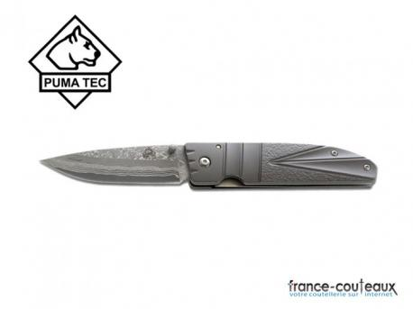 Couteau Puma tec one hand knife damasus 73 couches