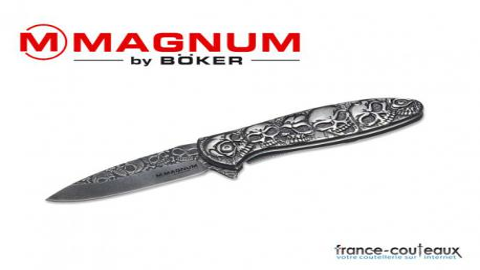 Couteau magnum dia de los muertos - 20 cm