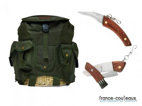 Pack champignons maserin - sac + couteau