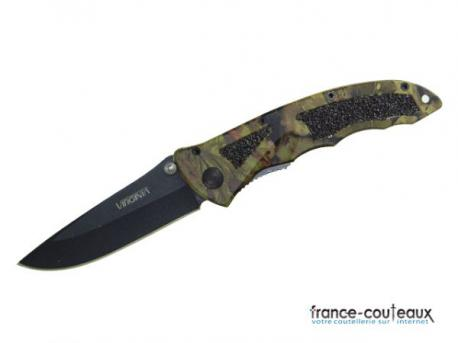 Couteau de poche CAMO HUNT - Une main - Virginia VI8297