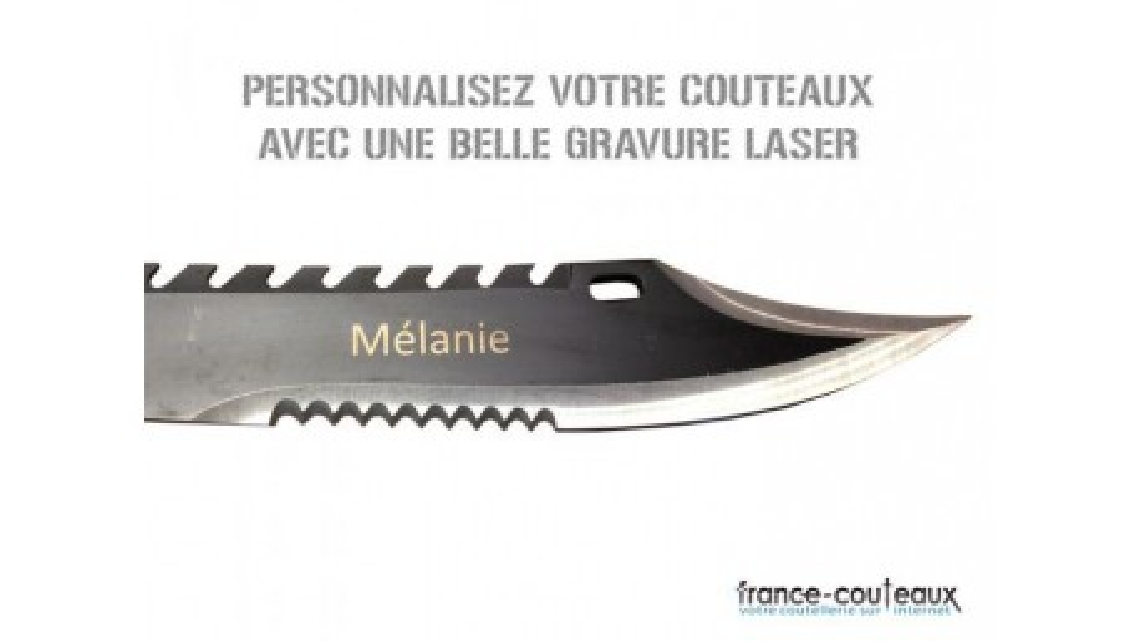Gravure laser classique et Artistique sur couteaux