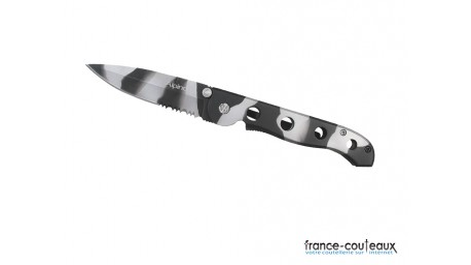 Coffret couteau Alpino Camo lame mixte