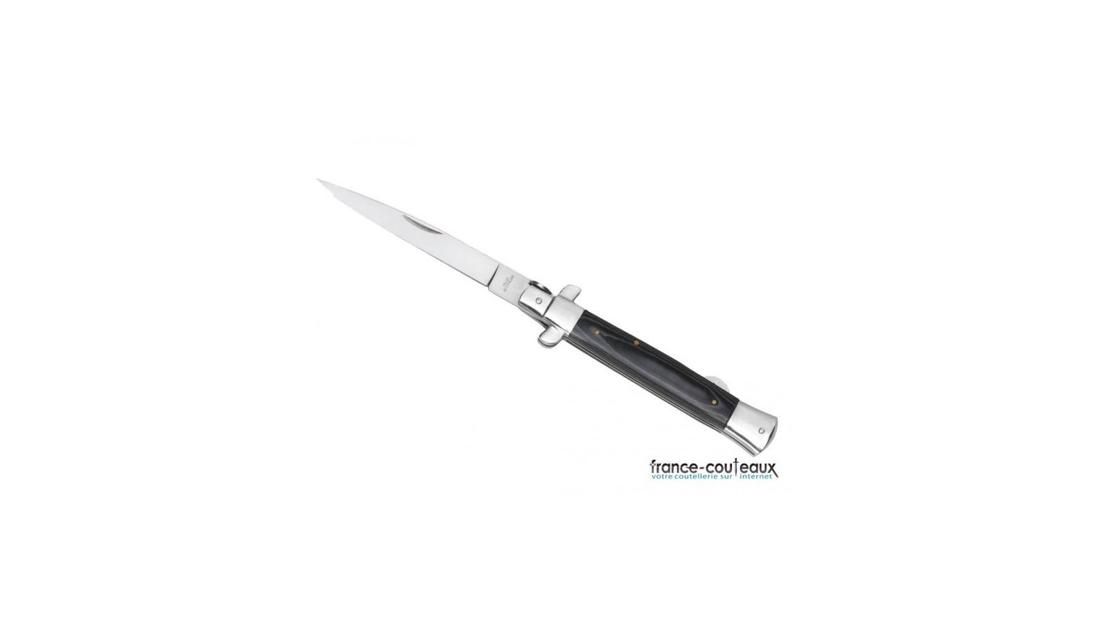 3 kunaï noirs et rouges identiques + étui de transport - 17 cm