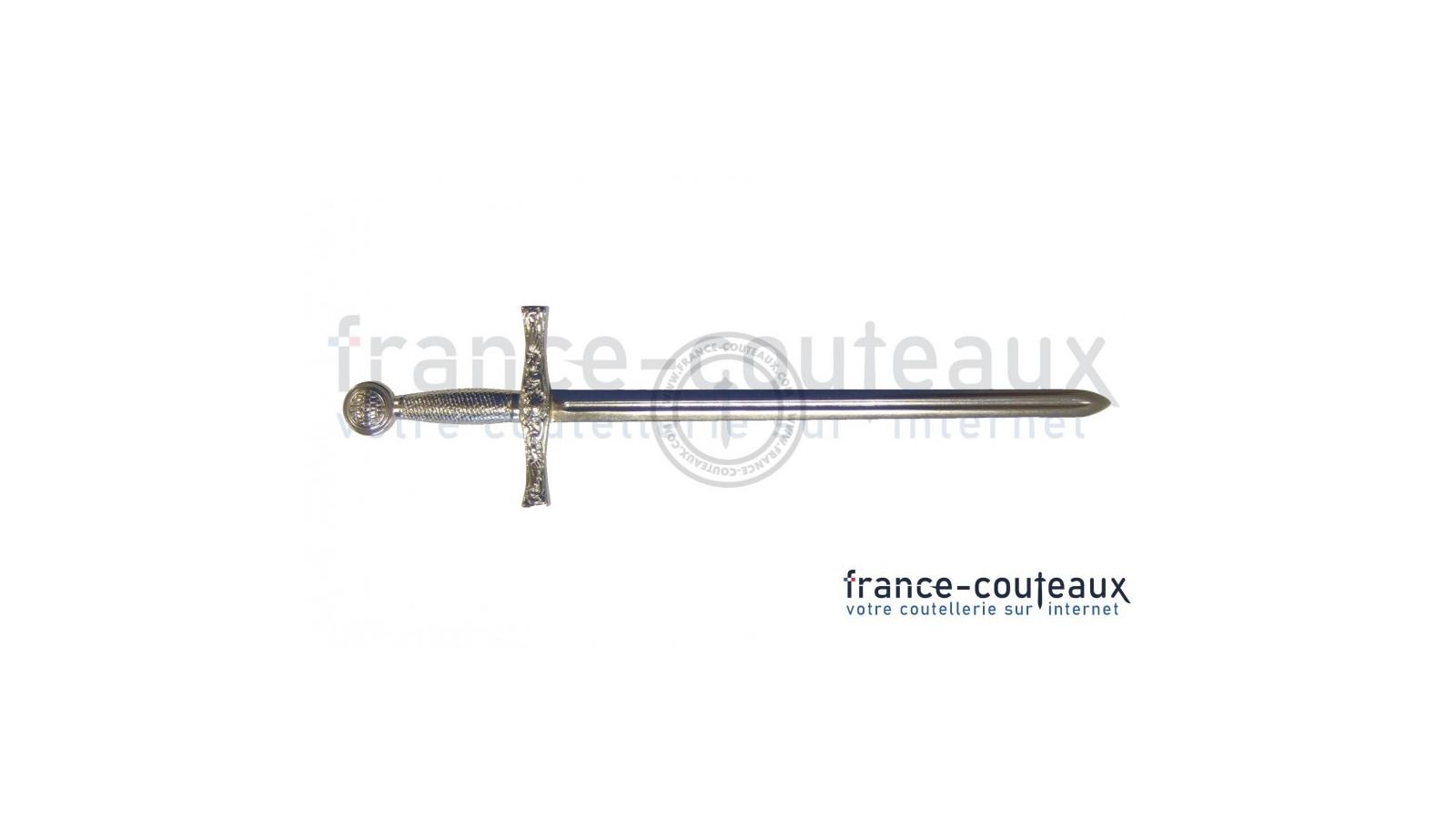 Canne épée pommeau doré de chevalerie