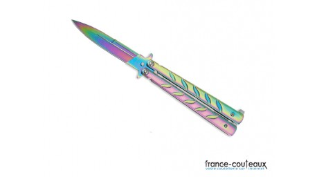 Couteau papillon rainbow sword