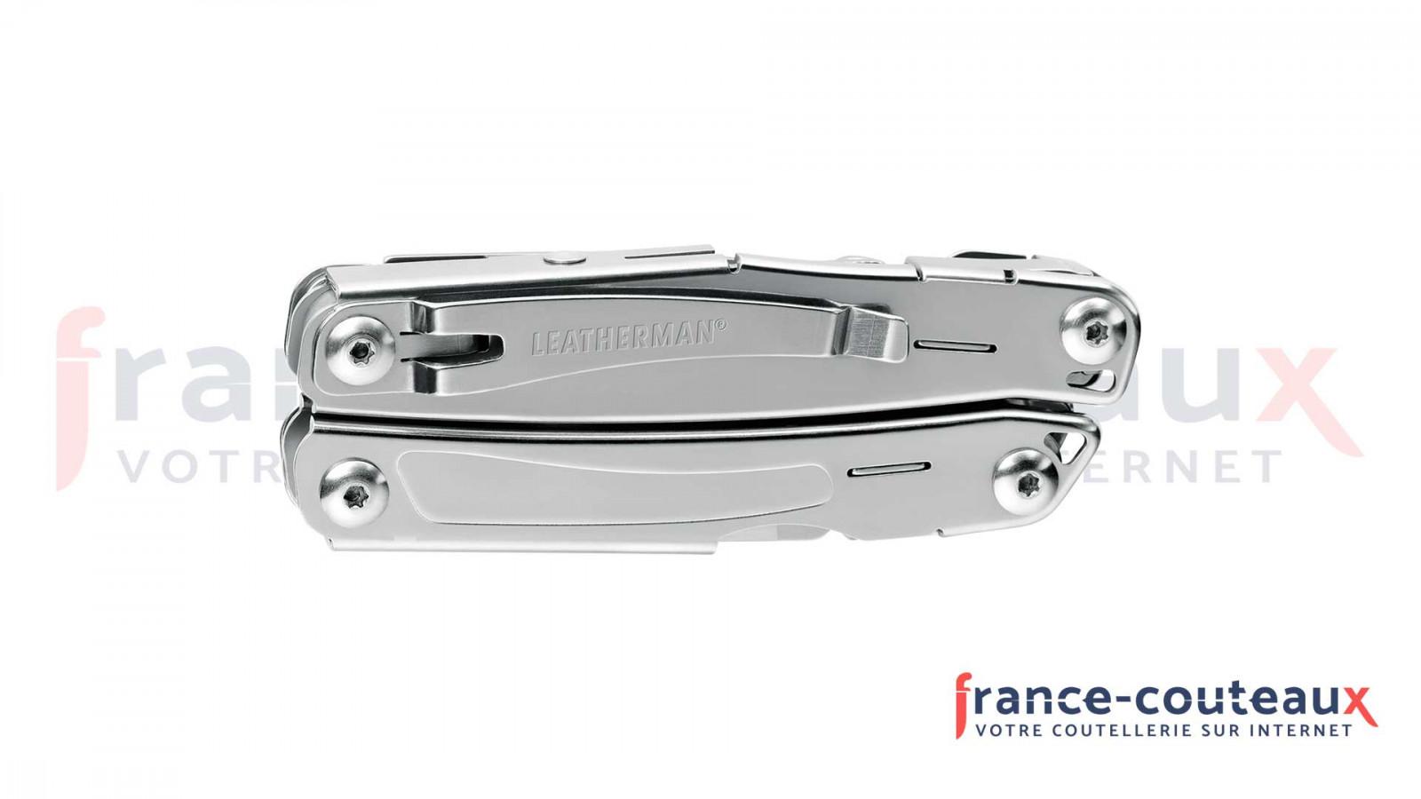 Stylo couteau défense lame mixte anodisé couleur champagne