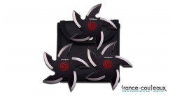 Set de 3 shurikens Perfect Point dans étui en nylon noir