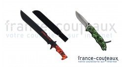 Pack Halloween machette Zombie Killer et couteau Hades rescue