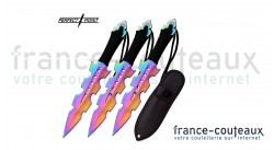 Set de 3 couteaux de lancer arc-en-ciel Perfect Point