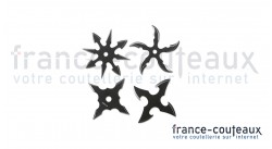 Lot de 4 mini shurikens à lancer noir