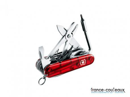 Couteau Suisse Victorinox - Cyber 41 outils - rouge transparent