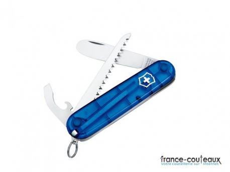 "Couteau Suisse ""My First Victorinox"" bleu - 10 outils"