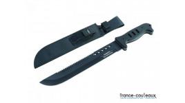 Couteau pliant bleu US Air Force avec lame crantée