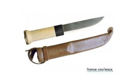 Couteau poignard de chasse basique manche en bois Lapon Court