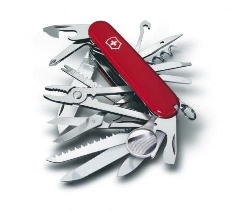1.6795 - COUTEAU SUISSE - SWISSCHAMP - 21 PIECES - 91 MM
