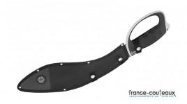 Couteau pliant My Tighe noir avec lame mixte crantée