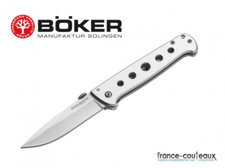 Couteau pliant full metal pocket Mangmum by boker